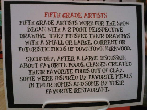 Description of one of the 5th grade displays