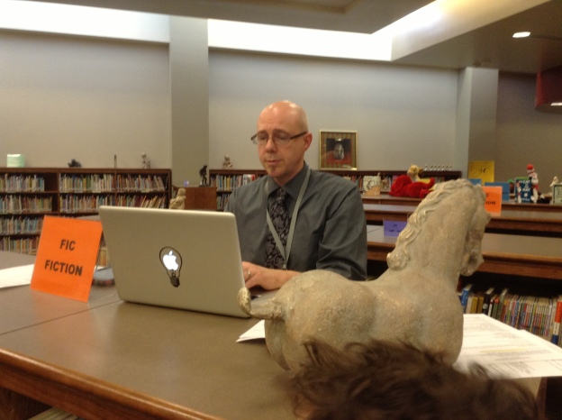 Mr. Strecker, helping solve problems, as usual.  He's kind of magic, actually. :)