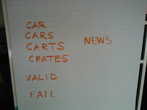 Check out the way CAR turned into CRATES--a longer word with more friends involved!  Success!
