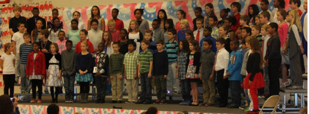 "5th grade shared ""The Heart of America"" with the audience and it was FABULOUS!"