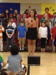 "Abbi totally rocked it in her solo at the beginning of our song ""It's All Good!"""