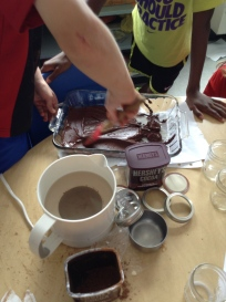 ...and then made us some to sample!