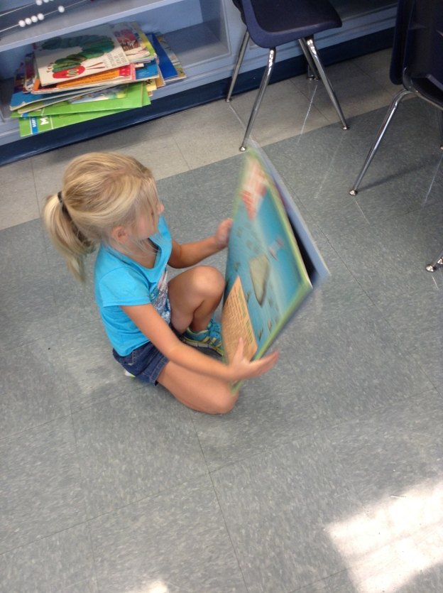 Big books are always fun!  At quiet time AND at choice time!
