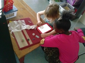 "Makayla and Millie (who's work at recess sparked the whole idea in the first place!) write about a really cool collection of ""B"" things they found outside on the playground."
