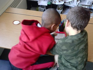 Landen and Diego knew right away they wanted to explain our math warm-ups!