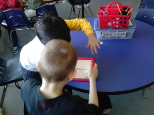 Charlie and Diego worked to tell about our current chapter book The One and Only Ivan (we are LOVING it, by the way!).
