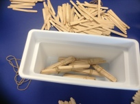 A group collected bundles of ten in their box as they went along.