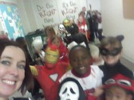 Second grade Halloween selfie!
