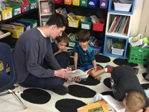 Mr. van Alstyne shared a book with Thomas and Avi and he has a SUPER reading voice!